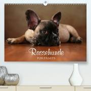 Cover-Bild zu Behr, Jana: Rassehunde Portraits (Premium, hochwertiger DIN A2 Wandkalender 2021, Kunstdruck in Hochglanz)