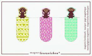 Cover-Bild zu Magnetlesezeichen Drei Affen VE 6