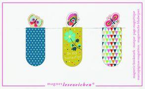 Cover-Bild zu Magnetlesezeichen Schmetterlinge VE 6