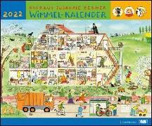 Cover-Bild zu Berner, Rotraud Susanne (Illustr.): Wimmel-Kalender 2022 - DUMONT Kinderkalender - Wandkalender 58,4 x 48,5 cm - Spiralbindung