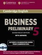 Cover-Bild zu Cambridge English Business 5. Preliminary. Student's Book with answers