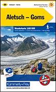 Cover-Bild zu Hallwag Kümmerly+Frey AG (Hrsg.): Aletsch-Lötschental-Goms Wanderkarte Nr. 25, 1:60 000. 1:60'000