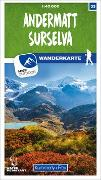 Cover-Bild zu Hallwag Kümmerly+Frey AG (Hrsg.): Andermatt - Surselva 33 Wanderkarte 1:40 000 matt laminiert. 1:40'000