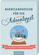 Cover-Bild zu Mikroabenteuer für die Adventszeit. 24 Inspirationskärtchen