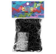 Cover-Bild zu Rainbow Loom Gummibänder Schwarz Opaque