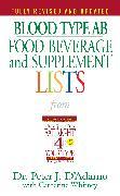 Cover-Bild zu Blood Type AB Food, Beverage and Supplement Lists (eBook) von D'Adamo, Peter J.