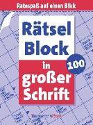Cover-Bild zu Krüger, Eberhard: Rätselblock in großer Schrift 100 (5 Exemplare à 2,99 ?)