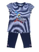 Cover-Bild zu Globine Pyjama Capri marine/weiss gestreift 110/116