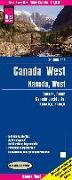 Cover-Bild zu Peter Rump, Reise Know-How Verlag: Reise Know-How Landkarte Kanada West / West Canada (1:1.900.000). 1:1'900'000