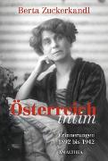 Cover-Bild zu Österreich intim von Zuckerkandl, Berta