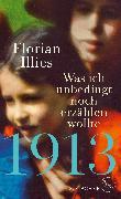 Cover-Bild zu 1913 - Was ich unbedingt noch erzählen wollte von Illies, Florian