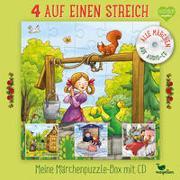 Cover-Bild zu 4 auf einen Streich - Meine Märchenpuzzle-Box mit CD von Reh, Rusalka (Nacherz.)
