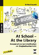 Cover-Bild zu At School - At the Library (eBook) von Klopsch, Britta
