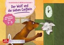 Cover-Bild zu Der Wolf und die sieben Geißlein. Kamishibai Bildkartenset von Grimm, Brüder