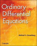 Cover-Bild zu Greenberg, Michael D.: Ordinary Differential Equations (eBook)