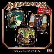 Cover-Bild zu Sherlock Holmes - Die geheimen Fälle des Meisterdetektivs, Box 4: Folgen 11, 13, 14 (Audio Download) von Doyle, Arthur Conan