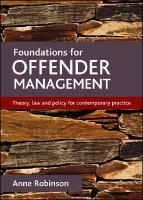 Cover-Bild zu Foundations for offender management (eBook) von Robinson, Anne