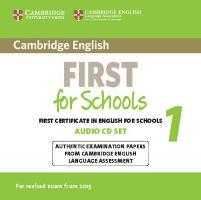 Cover-Bild zu Cambridge English. First for Schools 1. Audio CD Set