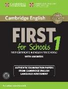 Cover-Bild zu Cambridge English First for Schools 1. Student's Book with Answers. Pack