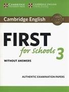 Cover-Bild zu Cambridge English First for Schools 3 Student's Book without Answers