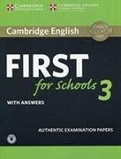 Cover-Bild zu Cambridge English First for Schools 3 Student's Book with Answers with Audio