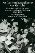 Cover-Bild zu Der Nationalsozialismus vor Gericht von Ueberschär, Gerd R. (Hrsg.)