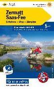 Cover-Bild zu Zermatt - Saas Fee, Grächen, Visp, Simplon Wanderkarte Nr. 24. 1:60'000 von Hallwag Kümmerly+Frey AG (Hrsg.)