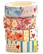 Cover-Bild zu Washi Tapes Set Blumen und Herzen