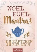 Cover-Bild zu Wohlfühlmantras. 50 Kärtchen für dich von Magunia, Carolin (Illustr.)