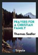 Cover-Bild zu Prayers for a Christian Family von Sadler, Thomas