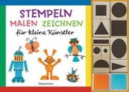 Cover-Bild zu Pautner, Norbert: Stempeln, malen, zeichnen-Set. Nach den Grundsätzen des Bauhaus, Weimar. Gestalten mit geometrischen Grundformen