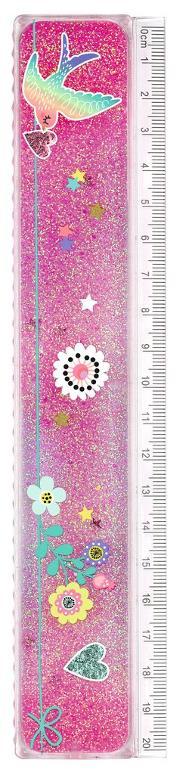 Cover-Bild zu Flowers & Friends Lineal Glitterzauber VE 12