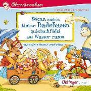Cover-Bild zu Wenn sieben kleine Badehasen quietschfidel ans Wasser rasen von Praml, Sabine