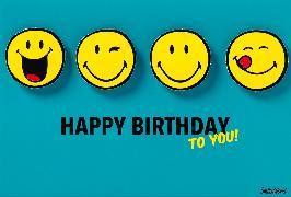 Cover-Bild zu DK Geburtstag Collage Smiley 51-0797