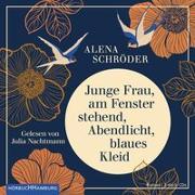 Cover-Bild zu Schröder, Alena: Junge Frau, am Fenster stehend, Abendlicht, blaues Kleid