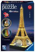Cover-Bild zu Ravensburger 3D Puzzle Eiffelturm in Paris bei Nacht 12579 - leuchtet im Dunkeln