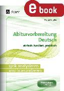Cover-Bild zu Lyrik analysieren und interpretieren (eBook) von Schäfer, Stefan