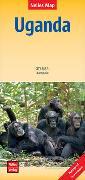 Cover-Bild zu Nelles Map Landkarte Uganda. 1:700'000 von Nelles Verlag (Hrsg.)