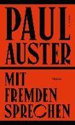 Cover-Bild zu Mit Fremden sprechen von Auster, Paul