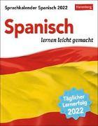 Cover-Bild zu Sprachkalender Spanisch Kalender 2022 von Rivero Crespo, Sylvia