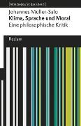 Cover-Bild zu Klima, Sprache und Moral. Eine philosophische Kritik