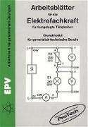 Cover-Bild zu Arbeitsblätter für die Elektrofachkraft für festgelegte Tätigkeiten von Grohmann, Siegfried