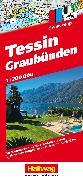 Cover-Bild zu Tessin und Graubünden Strassenkarte 1:200 000. 1:200'000