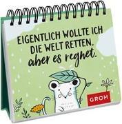 Cover-Bild zu Eigentlich wollte ich die Welt retten, aber es regnet von Groh Redaktionsteam (Hrsg.)