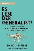 Cover-Bild zu Es lebe der Generalist! von Epstein, David