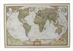 Cover-Bild zu National Geographic The World, Weltkarte auf Kork-Pinnwand