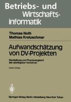 Cover-Bild zu Kretzschmar, Mathias: Aufwandschätzung von DV-Projekten