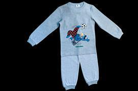 Cover-Bild zu Globi Pyjama grau Fussballer 110/116