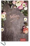 """Cover-Bild zu Notizbuch """"Notizen"""" (Blumen)"""