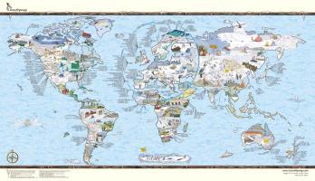 Cover-Bild zu snowtripmap - die besten Skigebiete der Welt, illustrierte Weltkarte